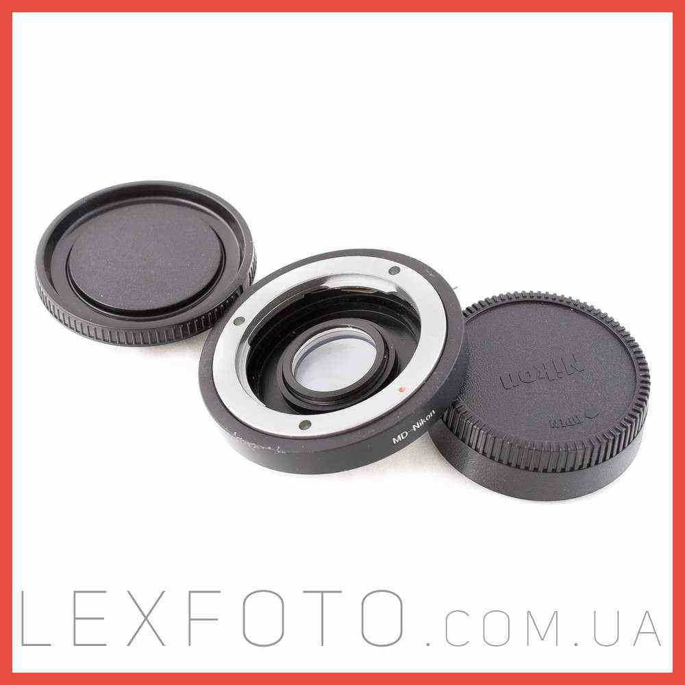 Переходник, адаптер Minolta MD/MC  Canon EF с линзой